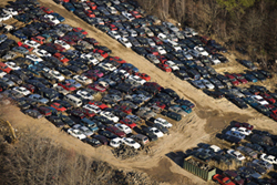 Cars In Salvage Yard